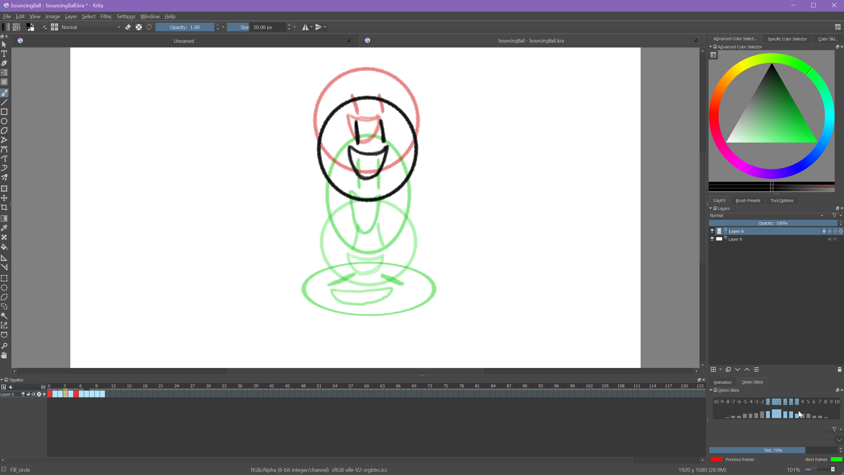Krita Animation Screenshot