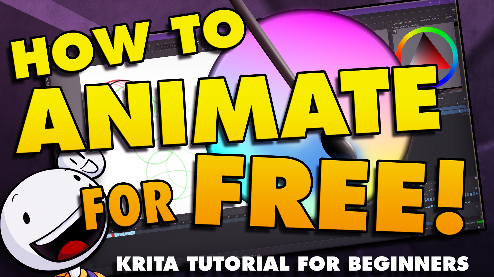 How To Animate in Krita Tutorial